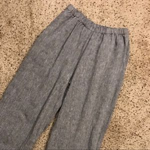 Flax Small Ankle Wide Leg Pants